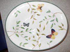 Sakura Hand Painted Vegetable/Serving Bowl by RadiogirlCarolyn