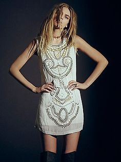 love this #freepeople beaded mini dress