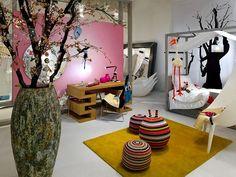 kid's bedroom with tree theme