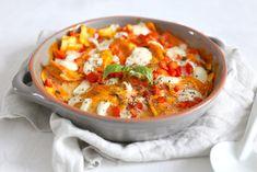Ravioli ovenschotel met paprika