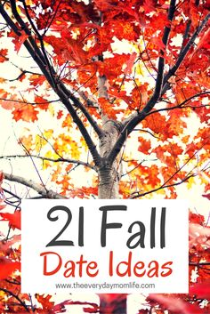 21 Fall Date Ideas for you and your spouse. Enjoy the fall season with these fun activities just for the two of you.