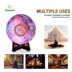 Sq512 Equantu Muslim Learning 15cm Quran Night Light Speaker In 2020 Night Light Quran Star Lamp