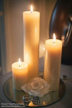 Candles and rings