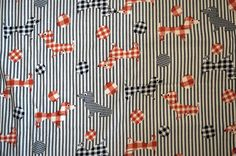 Vintage Fabric Dachshund Retro Fabric Dogs 70s Fabric Craft Supplies Puppies Corduroy Quilting Cotton Red White Blue Fabric by the Yard by aesthetikara on Etsy