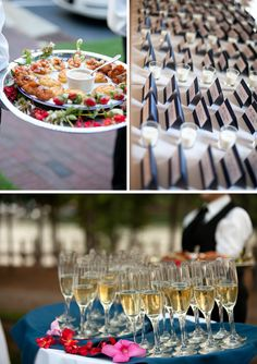 Champagne to guests before the ceremony? yes please