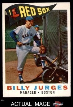 1960 Topps #220 Billy Jurges Red Sox EX #RedSox