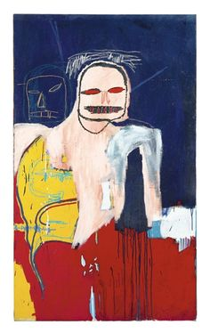 Artwork by Jean Michel Basquiat, HEAD AND SCAPULA, Made of acrylic and oilstick on canvas
