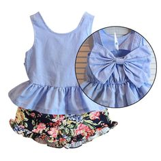 Cheap kids girls outfits, Buy Quality girls outfits directly from China girls outfit sets Suppliers: Children Kid Girls Outfits Set Big Bow Vest Top T-shirt +Floral Pants Clothes Sets Outfits Niños, Kids Outfits, Grands Arcs, Kids Girls, Baby Kids, Short Niña, Bow Shirts, Baby Couture, Kids Pants