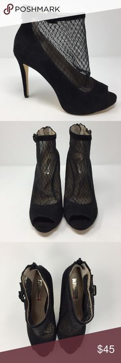 634c47695edd INC Sicili Stilleto Evening booties INC Faux Suede Net Peep toe bootie The  Sicili evening booties