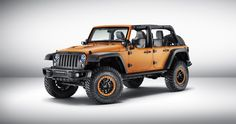 2015 Frankfurt Motor Show - JEEP MOPAR - https://3d-car-shows.com/2015-frankfurt-motor-show-jeep-mopar/  Jeep Cherokee KrawLer is bulked up for the off-road with unique suspension, tires, skid plates and more Mopar modifications to the Jeep Wrangler Rubicon Sunriser include a 4-inch lift kit and half doors Jeep Renegade Trailhawk features customizations including 17-inch rims, underbody skid...