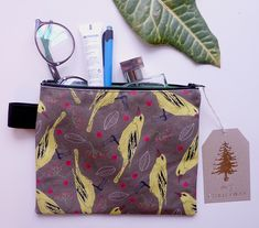 Hand made cosmetics bag , our cotton pattern design