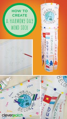 This year celebrate Harmony Day by creating a colourful wind sock that recognises Australia's multiculturalism! Kindness Activities, Classroom Activities, Toddler Activities, Classroom Ideas, Harmony Day Activities, United Nations Day, Catholic Schools Week, Art For Kids, Crafts For Kids