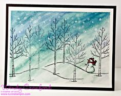 Wendy Cranford:  Stampin' Up White Christmas Stamp Set; video tutorial