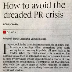 How to avoid the dreaded PR crisis Chief Executive, All About Eyes, Leadership, Communication, Communication Illustrations