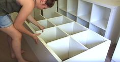 Woman Completes Amazing DIY Bedroom Makeover On A Budget via LittleThings.com