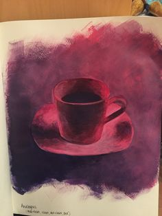 Example of an analogous color scheme. Acrylic.