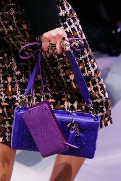 Christian Dior Fall 2016 Ready-to-Wear Fashion Show Details: See detail photos for Christian Dior Fall 2016 Ready-to-Wear collection. Look 23 Dior Fashion, Fashion Bags, Paris Fashion, Purple Fashion, Fashion Jewelry, Christian Dior Bags, Best Designer Bags, Dior Handbags, Purple Bags