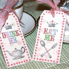 Mad hatter party favours
