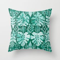 JUNGLE IKAT throw pillow | Barbarian by Barbra Ignatiev | Bold Boho Chic Home Decor and Accessories