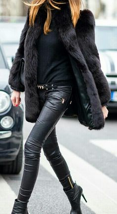 Fall essentials, leather & fur