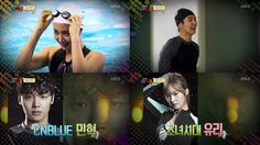 "[★VIDEO] Girls' Generation's Yuri and CNBLUE's Minhyuk show off their swimming skills on ""Our Neighborhood Variety Sports"""