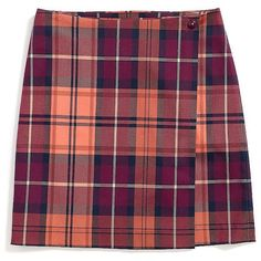 Tommy Hilfiger Plaid Wrap Skirt ($50) ❤ liked on Polyvore featuring skirts, bottoms, clothes - skirts, clothing - skirts, tommy hilfiger, cotton skirts, tartan plaid skirt, plaid wrap skirt and red wrap skirt