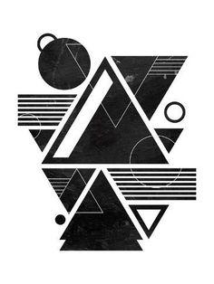 Art Print: Future Landscape by OnRei : Geometric Shapes Art, Geometric Designs, Balance Art, Design Art, Graphic Design, Design Basics, Composition Design, Principles Of Design, Geometry Art
