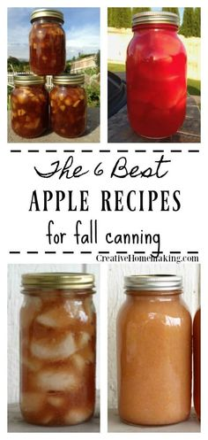 Simple apple canning recipes to use in your favorite desserts. 6 best apple canning recipes for fall. Applesauce, apple pie filling, apple pie jam, cinnamon apples, and more! Canning Soup Recipes, Pressure Canning Recipes, Apple Recipes For Canning, Canning Tips, Apple Sauce Canning, Applesauce Recipes Canning, Pressure Cooking, Recipes For Apples, Recipe For Canning Apple Pie Filling