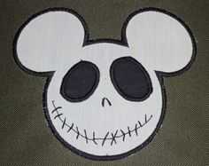Personalized Mickey Mouse head Jack by FourBeesEmbroidery on Etsy