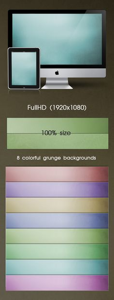 8 Colorful Grunge backgrounds