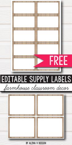 Free editable classroom supply labels for preschool, primary, middle and elementary classroom decor for your school. The children will love this bright and fun printables hanging on the wall.