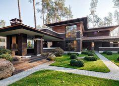 Дом в архитектурном стиле Райт | Ремстройсервис http://www.hmkmos.ru/proekt-R-11-88.html