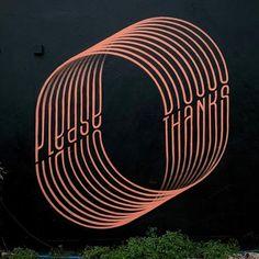 """Gary Stranger, """"Please, Thanks"""" in UK, 2020 Street Art London, Typography, Instagram, Letterpress, Letterpress Printing, Fonts, Printing"""