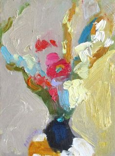 "Larisa Aukon, ""A Long way"", 8"" x 6"", oil on panel http://aukonlarisa.com/"