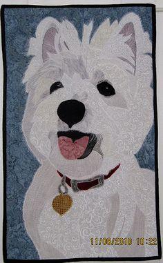 Westie commission quilt... Hearts Desire Quilting