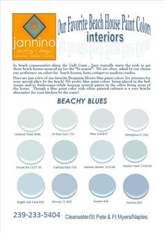 Image Result For Beach House Color Schemes Benjamin Moore Beach