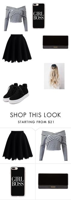 """Roberta BR"" by ciana-si on Polyvore featuring moda, Chicwish, Casetify, Balmain e WithChic"