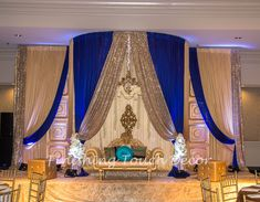 Indian wedding reception decorations
