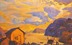 Yaroslavl. Church of Nativity. - Nicholas Roerich - WikiArt.org
