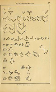 Mordvalaisten pukuja kuoseja. Trachten und Muster der Mordvinen Costumes and patterns of Mordvinians (157 of 638)