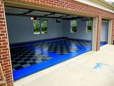 Don't judge a garage by it's door! #GarageFlooring