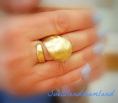 domed adjustable statement ring brass Dom ,cast twisted ring ,Handmade,gift for her,OOAK,egst,Greek shop,greek summer Handmade Gifts For Her, Handmade Items, Natural Cushions, Beautiful Engagement Rings, Sell On Etsy, Coco Chanel, Statement Rings, Gold Rings, Fashion Jewelry