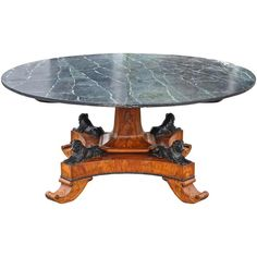 Early 19th Century Baltic Neoclassical Walnut Dining Table, Style of Thomas Hope | From a unique collection of antique and modern dining room tables at https://www.1stdibs.com/furniture/tables/dining-room-tables/