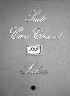 Coco Chanel suite at The Ritz Paris. Across the street from her Boutique and Apartment at 31 Rue Cambon.
