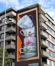 3d Street Art, Street Artists, Banksy, Leon Keer, Helsingborg, 3d Painting, Illusion Art, Dutch Artists, Augmented Reality