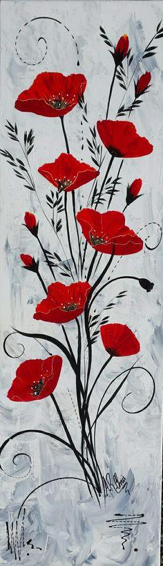 Imagen del lienzo canvas Print muro imagen son impresiones artísticas naturaleza roja amapolas amapola