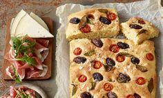 Focaccia - Järvikylä Salvia, Vegetable Pizza, Baked Goods, Tacos, Bread, Baking, Vegetables, Ethnic Recipes, Food
