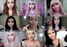 Promise Phan as various celebrities. She's an AMAZING makeup artist! Click here to visit her YouTube channel
