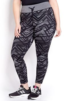 The Best Plus-Size Activewear To Up Your Workout Game #refinery29 http://www.refinery29.com/plus-size-workout-clothes-2016#slide-1 Get in the game with these fashion-forward zig-zag leggings.Addition Elle Nola Run Reversible Printed Legging, $60, available at Addition Elle....