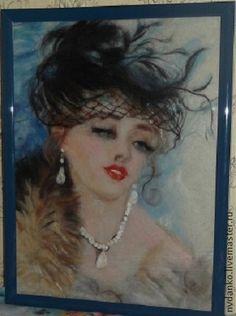 Мастер-класс: картина шерстью «Дама в шляпке» - Ярмарка Мастеров - ручная работа, handmade